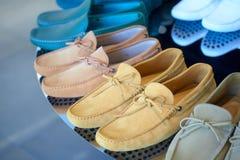 Men's boat shoes Stock Photos