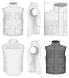 Men's bodywarmer design templates Royalty Free Stock Images