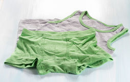 Men's Boxer shorts and shirt. Close up Royalty Free Stock Images
