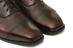 Men's Brogues. Leather Shoes, Hand-Made Stock Image