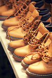 Men's brown boots Stock Images
