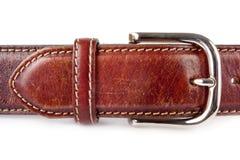 Men's brown leather belt Stock Photos