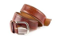 Men's brown leather belt Stock Photo