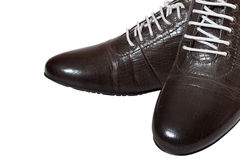 Men's brown shoes Royalty Free Stock Image
