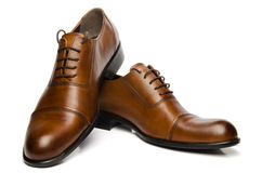 Men's Brown Shoes Stock Photos