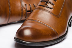 Men's Brown Shoes Royalty Free Stock Photo