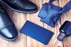 Men's business accessories father's day. Royalty Free Stock Image