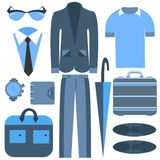 Men's business clothing  and accessories Stock Image