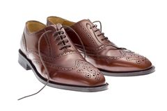 Men's business shoes Stock Photo