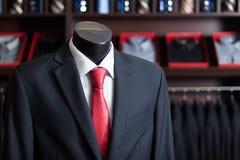 Men's business suit on a dummy Stock Photo