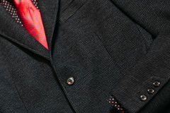 Men's business suit with a red tie. Royalty Free Stock Image