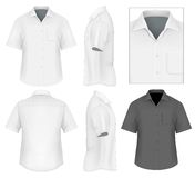 Men's button down shirt design template Royalty Free Stock Image