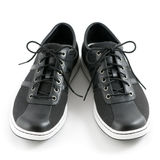Men's casual black shoes Stock Image