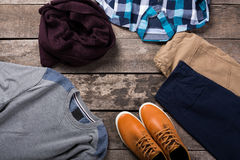 Men's casual clothes Stock Photography