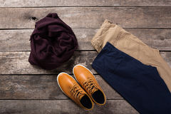 Men's casual clothes Stock Image