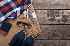 Men's casual clothes Royalty Free Stock Photography