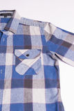 Men's check shirt fashion. On white background Stock Photos
