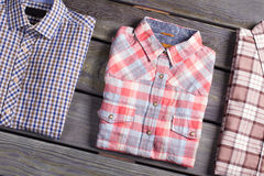Men's checkered shirt. Stock Images