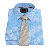 Men's checkered shirt with tie, top view Royalty Free Stock Photo