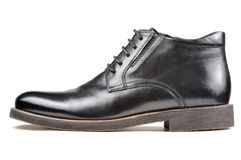 Men's Classic Black Leather Shoe Stock Images