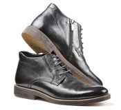 Men's Classic Black Leather Shoes Stock Image