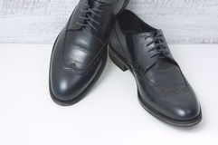 Men's classic leather shoes. Men's classic leather fashion shoes Royalty Free Stock Image