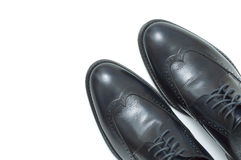 Men's classic shoes. Men's classic leather fashion shoes Royalty Free Stock Images