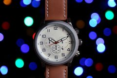 Men`s Classic Wristwatch Stock Photography