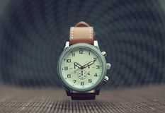 Men`s Classic Wristwatch Royalty Free Stock Photography