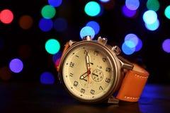 Men`s Classic Wristwatch Stock Photo