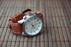 Men`s Classic Wristwatch. Indian Made Men`s Classic Wristwatch Stock Images