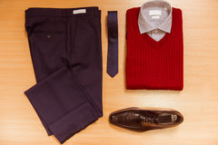 Men's classical clothes Royalty Free Stock Photography