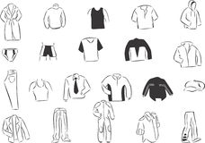 Men's Clothes Stock Photography
