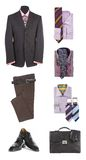 Men's clothes and accessories Stock Image