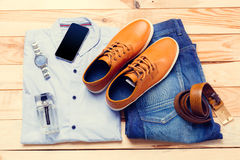 Men's clothes and accessories Royalty Free Stock Image