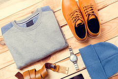 Men's clothes and accessories Royalty Free Stock Images