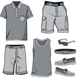 Men's clothes and summer accessories. Royalty Free Stock Image
