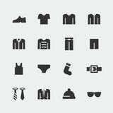 Men's clothes vector mini icons Stock Photos