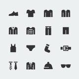 Men's clothes vector mini icons Stock Photos