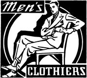 Men's Clothiers Royalty Free Stock Photography