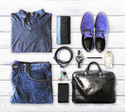 Men's clothing and accessories. Close up Royalty Free Stock Images