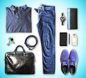 Men's clothing and accessories Stock Image
