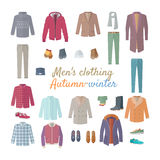 Men s Clothing. Autumn Winter Collection. Vector Stock Image