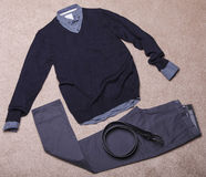 Men's clothing. Collage of modern men's clothing Stock Images