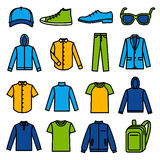 Men's Clothing icons Royalty Free Stock Photo