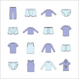 Men's Clothing. Men's clothing for home. Underwear for men. Men's clothing for home. Underwear for men. Men's Clothing Royalty Free Stock Photos
