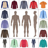Men`s clothing set Royalty Free Stock Photography