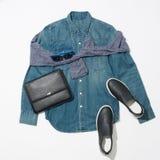 Men`s clothing set Royalty Free Stock Images