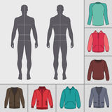 Men`s clothing set Royalty Free Stock Image