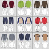 Men`s clothing set Stock Image